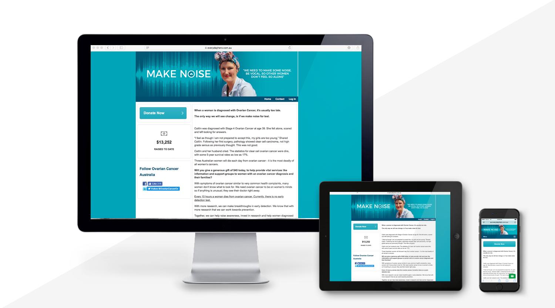 Ovarian Cancer_Make-Noise_WEBSITES_Redstone Marketing